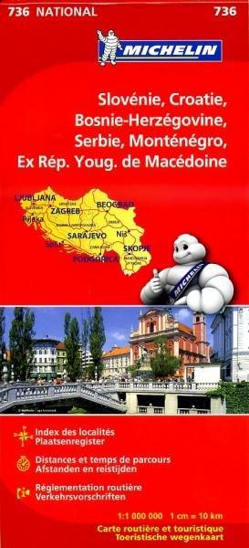 736  Slov., Kroatie, Bosnie, Joegosl., Macedonie 9782067171954  Michelin   Landkaarten en wegenkaarten Balkan