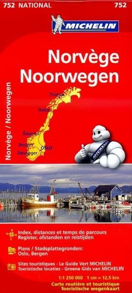 752  Noorwegen  | Michelin  wegenkaart, autokaart 1:1.250.000 9782067172746  Michelin   Landkaarten en wegenkaarten Noorwegen