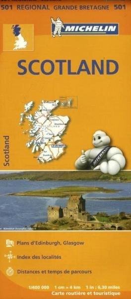 501 Schotland | Michelin  wegenkaart, autokaart 1:400.000 9782067183193  Michelin   Landkaarten en wegenkaarten Schotland