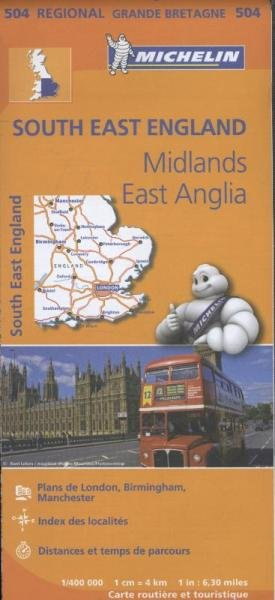 504 Engeland, Z.O | Michelin  wegenkaart, autokaart 1:400.000 9782067183322  Michelin   Landkaarten en wegenkaarten Zuidoost-Engeland