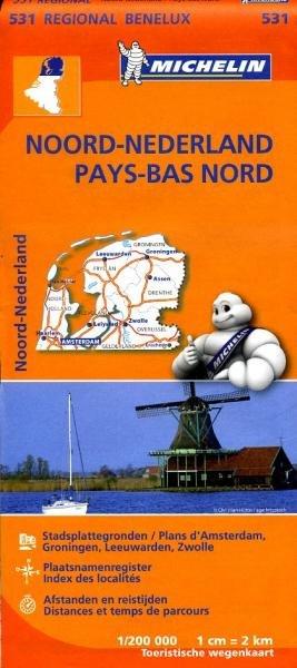 531 Nederland Noord - Michelin | wegenkaart, autokaart 1:200.000 9782067183360  Michelin   Landkaarten en wegenkaarten Nederland, Noord Nederland
