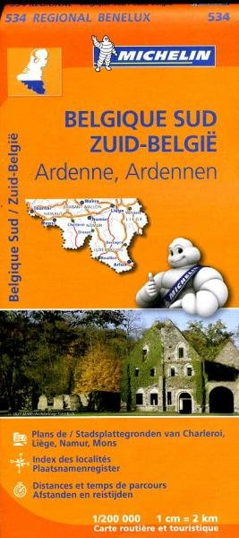 534  Belgie, Zuid-  (met Luxemburg) | Michelin  wegenkaart, autokaart 1:200.000 9782067183483  Michelin   Landkaarten en wegenkaarten België & Luxemburg