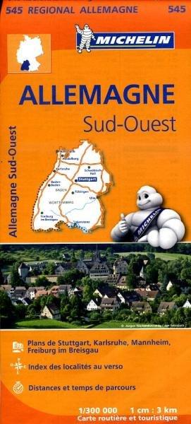 545 Baden-Württemberg | Michelin  wegenkaart, autokaart 1:300.000 9782067183643  Michelin Mich. Region. Krtn. Dtsl.  Landkaarten en wegenkaarten Baden-Württemberg, Zwarte Woud
