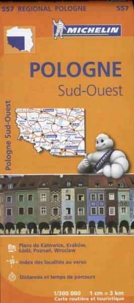 557  Polen Zuid-West | Michelin wegenkaart, autokaart 1:300.000 9782067183858  Michelin Michelin 1:300.000  Landkaarten en wegenkaarten Polen
