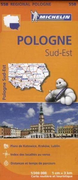 558  Polen zuid-oost | Michelin  wegenkaart, autokaart 1:300.000 9782067183889  Michelin Michelin 1:300.000  Landkaarten en wegenkaarten Polen