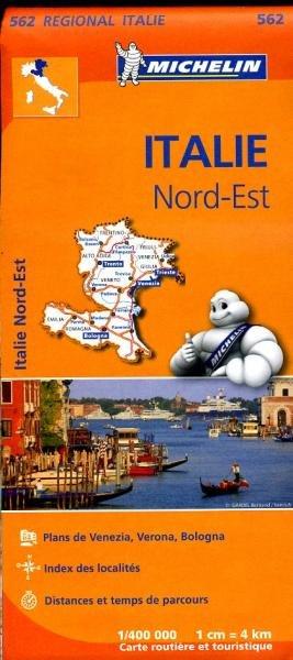 562 Italie NO | Michelin  wegenkaart, autokaart 1:400.000 9782067183957  Michelin   Landkaarten en wegenkaarten Zuidtirol, Dolomieten, Friuli, Venetië, Emilia-Romagna