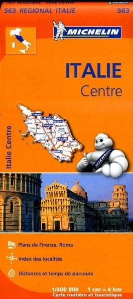 563 Italië Midden | Michelin  wegenkaart, autokaart 1:400.000 9782067183995  Michelin   Landkaarten en wegenkaarten Toscane, Umbrië, de Marken