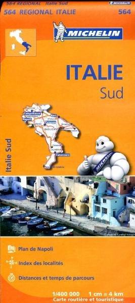 564 Zuid-Italie | Michelin  wegenkaart, autokaart 1:400.000 9782067184039  Michelin   Landkaarten en wegenkaarten Napels en Zuid-Italië