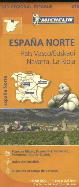 573  Navarra | Michelin  wegenkaart, autokaart 1:250.000 9782067184176  Michelin Michelin Spanje Regionaal  Landkaarten en wegenkaarten Noordwest-Spanje, Compostela, Picos de Europa