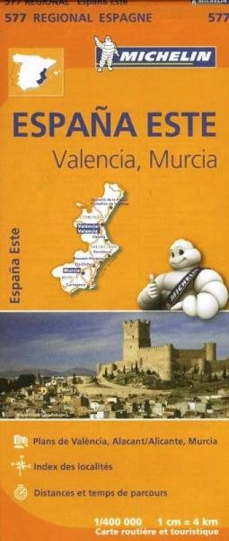 577  Comunidad Valenciana/Murcia | Michelin  wegenkaart, autokaart 1:400.000 9782067184374  Michelin Michelin Spanje Regionaal  Landkaarten en wegenkaarten Madrid, Castilië, Extremadura, Valencia (Costa Blanca)