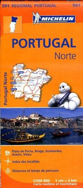 591  Noord-Portugal   Michelin  wegenkaart, autokaart 1:300.000 9782067184725  Michelin   Landkaarten en wegenkaarten Noord en Midden-Portugal, Lissabon