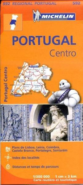 592  Midden-Portugal | Michelin  wegenkaart, autokaart 1:300.000 9782067184749  Michelin   Landkaarten en wegenkaarten Noord en Midden-Portugal, Lissabon