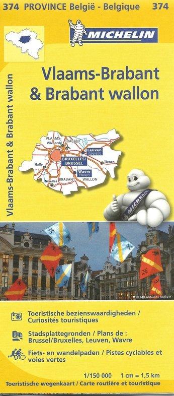 Brabant (Vlaams en Waals) 9782067185319  Michelin België 1:150.000  Landkaarten en wegenkaarten Vlaanderen & Brussel