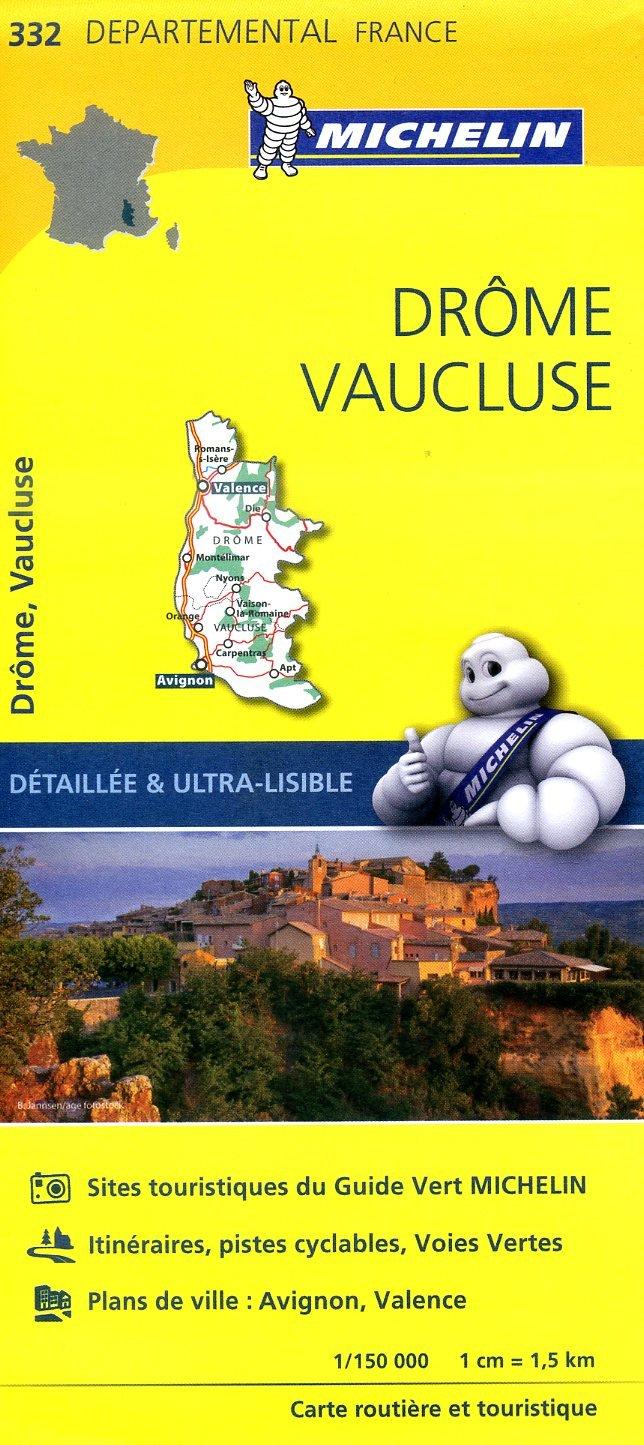 332  Drôme, Vaucluse | wegenkaart, fietskaart 1:150.000 9782067202344  Michelin Local / Departementskaarten  Landkaarten en wegenkaarten Drôme, Vercors, Provence, Vaucluse, Luberon