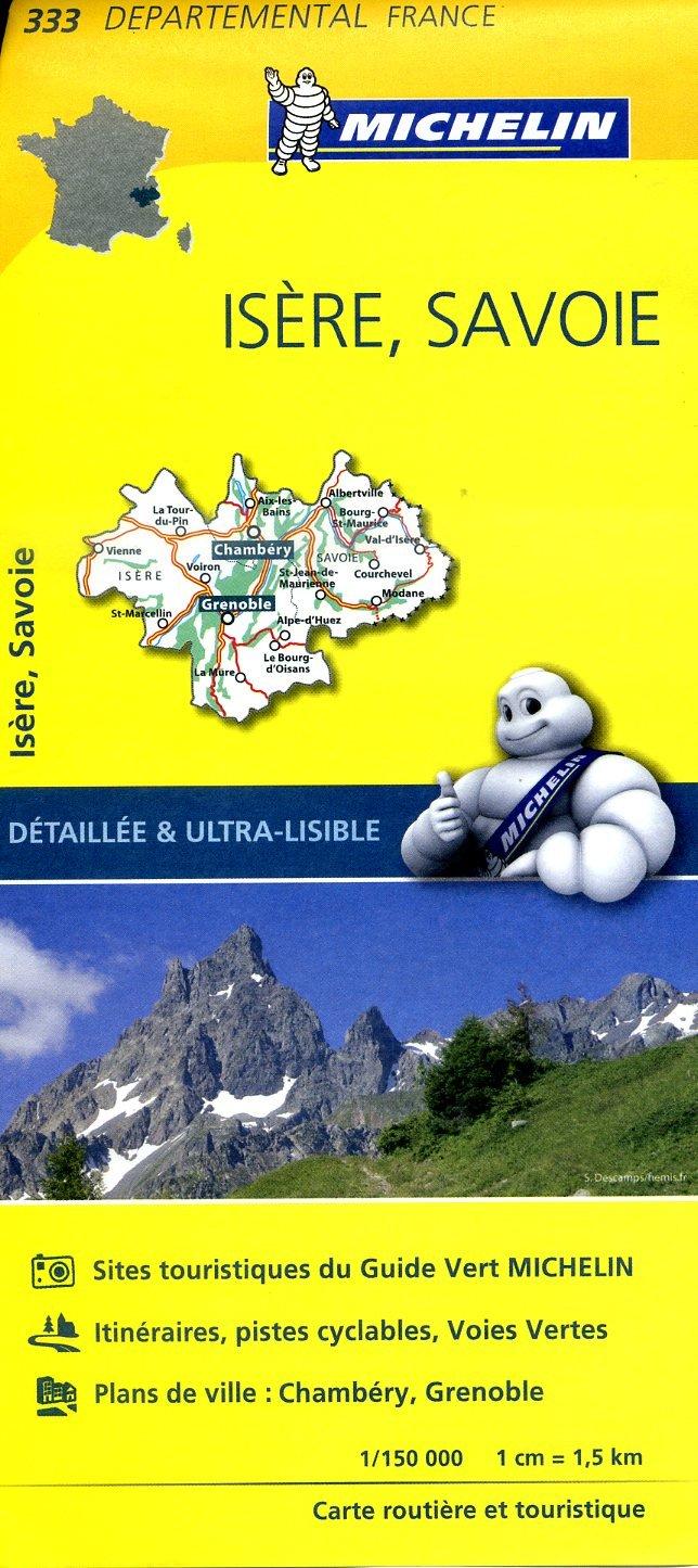 333  Isère, Savoie | wegenkaart, fietskaart 1:150.000 9782067202351  Michelin Local / Departementskaarten  Landkaarten en wegenkaarten Chartreuse, Bauges, Vanoise, Drôme, Vercors