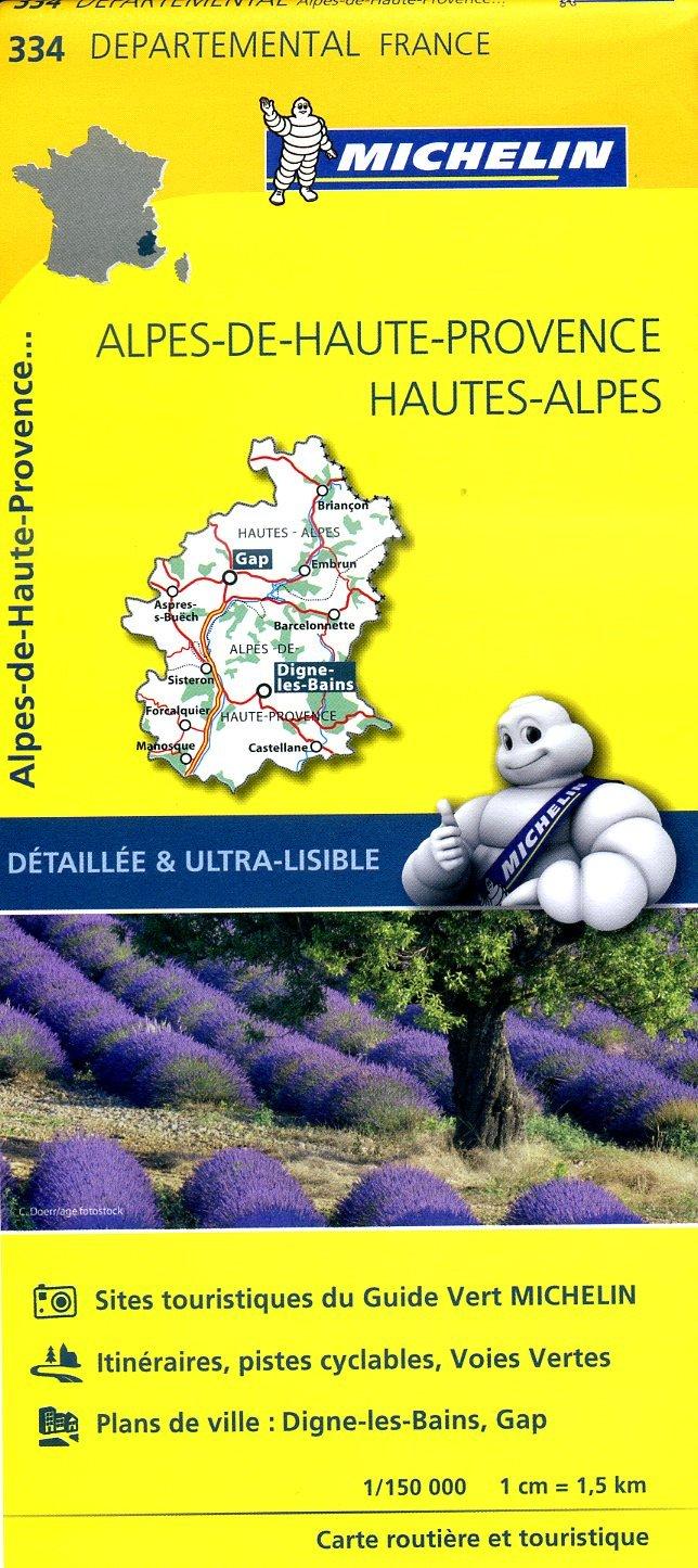 334  Alpes-de-Haute-Provence, Hautes-Alpes | wegenkaart, fietskaart 1:150.000 9782067202368  Michelin Local / Departementskaarten  Landkaarten en wegenkaarten Alpes de Haute-Provence, Gorges du Verdon