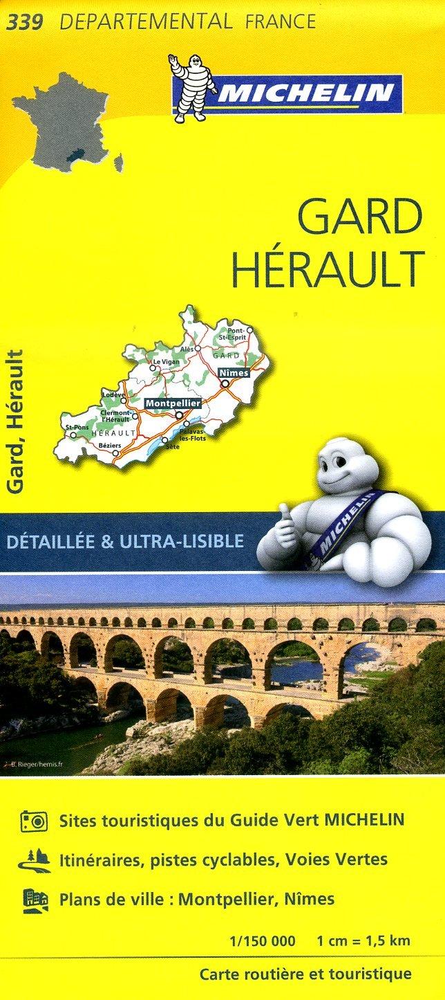 339  Gard, Hérault | wegenkaart, fietskaart 1:150.000 9782067202412  Michelin Local / Departementskaarten  Landkaarten en wegenkaarten Cevennen, Ardèche, Gard, Aveyron, Languedoc, Hérault, Aude, Tarn