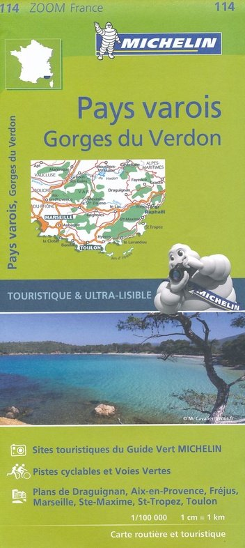 114  Cote d Azur/ Var 1:100.000 9782067209824  Michelin Zoom  Landkaarten en wegenkaarten tussen Valence, Briançon, Camargue en Nice