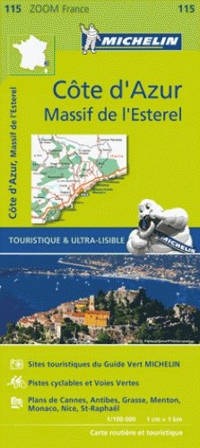 115 Cote d'Azur/Alpes Maritimes 1:100.000 9782067209831  Michelin Zoom  Landkaarten en wegenkaarten tussen Valence, Briançon, Camargue en Nice