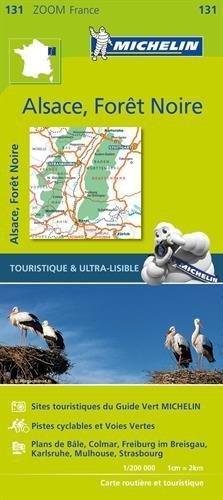 131 Zwarte Woud, Elzas, Rijnvallei 1:200.000 9782067209879  Michelin Zoom  Landkaarten en wegenkaarten Baden-Württemberg, Zwarte Woud, Vogezen