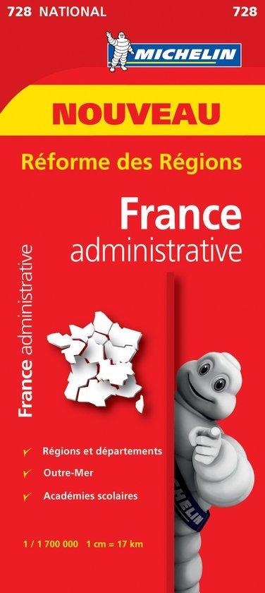 728 France: administrative 9782067211209  Michelin   Landkaarten en wegenkaarten Frankrijk
