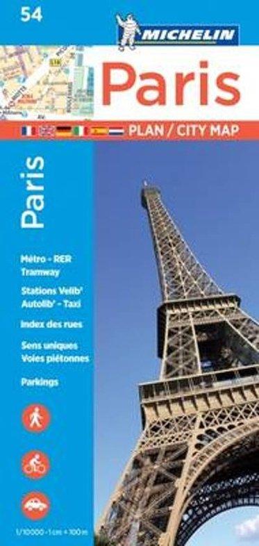055  Paris 1:10.000 9782067211568  Michelin Stadsplattegronden  Stadsplattegronden Parijs, Île-de-France