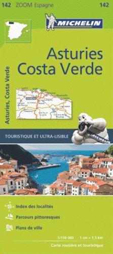 142  Asturias, Costa Verde - zoom 1:150.000 9782067218031  Michelin Michelin Spanje, Zoom  Landkaarten en wegenkaarten Noordwest-Spanje, Compostela, Picos de Europa