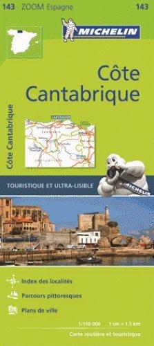 143  Costa de Cantabria - zoom 1:150.000 9782067218062  Michelin Michelin Spanje, Zoom  Landkaarten en wegenkaarten Noordwest-Spanje, Compostela, Picos de Europa