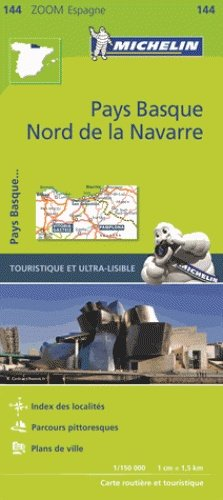 144  Pirineos Atlánticos 1:150.000 9782067218109  Michelin Zoom  Landkaarten en wegenkaarten Baskenland
