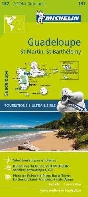 Guadeloupe 1:80.000 9782067224506  Michelin   Landkaarten en wegenkaarten Aruba, Bonaire, Curaçao, Overig Caribisch gebied