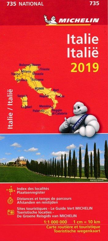 735 Italie, 1:1.000.000  2019 9782067236721  Michelin Michelinkaarten Jaaredities  Landkaarten en wegenkaarten Italië