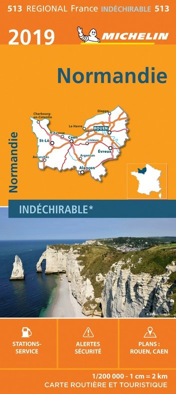 513  Normandie   Michelin  wegenkaart, autokaart 1:200.000 9782067236776  Michelin Regionale kaarten  Landkaarten en wegenkaarten Normandië