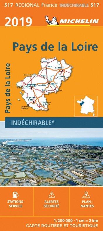 517 Pays-de-Loire | Michelin  wegenkaart, autokaart 1:200.000 9782067236813  Michelin Regionale kaarten  Landkaarten en wegenkaarten