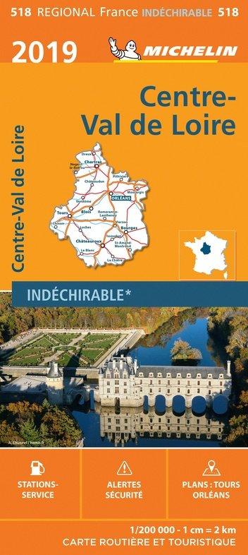 518 Centre | Michelin  wegenkaart, autokaart 1:200.000 9782067236820  Michelin Regionale kaarten  Landkaarten en wegenkaarten