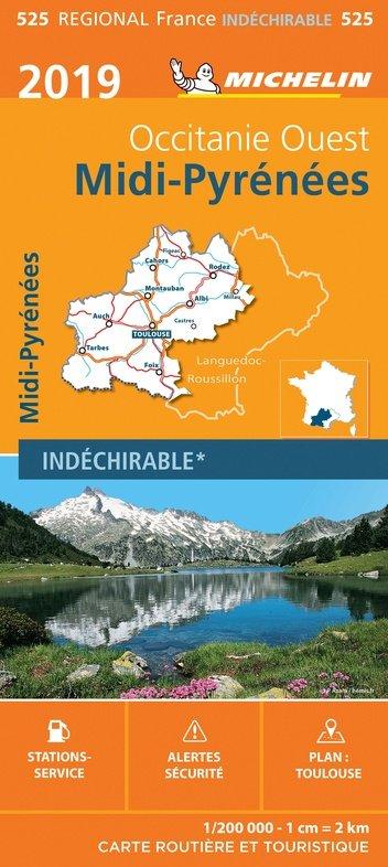 525 Midi-Pyrénées | Michelin  wegenkaart, autokaart 1:200.000 9782067236899  Michelin Regionale kaarten  Landkaarten en wegenkaarten Franse Pyreneeën, Toulouse, Gers, Garonne