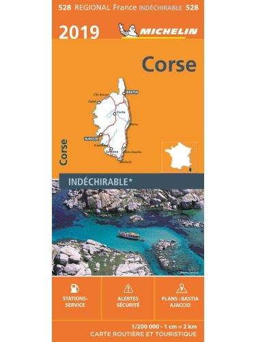 528  Corse | Michelin  wegenkaart, autokaart 1:200.000 9782067236929  Michelin Regionale kaarten  Landkaarten en wegenkaarten Corsica
