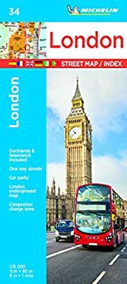 034  London 1:8.000 9782067236967  Michelin Stadsplattegronden  Stadsplattegronden Londen