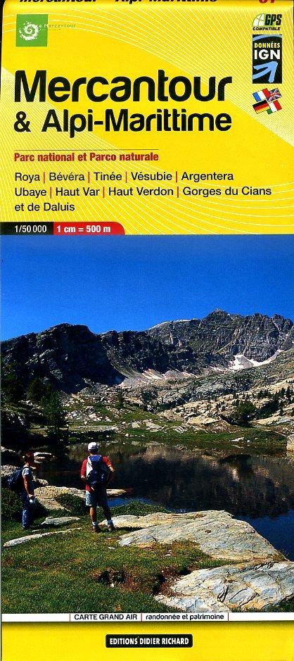 LB-07  Mercantour   wandelkaart 1:50.000 9782344002087  Libris Éditions Didier Richard  Wandelkaarten Var, Côte d'Azur, Mercantour