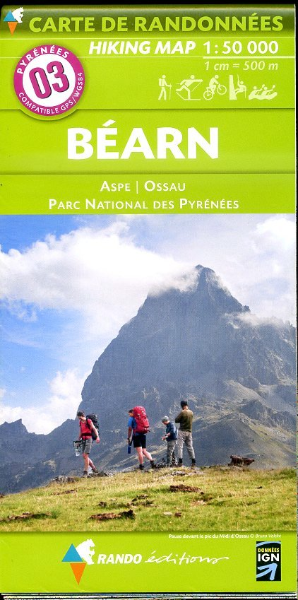 RP-03  Béarn 1:50.000 9782344008058  Rando Editions Randonnées Pyrénéennes  Wandelkaarten Franse Pyreneeën