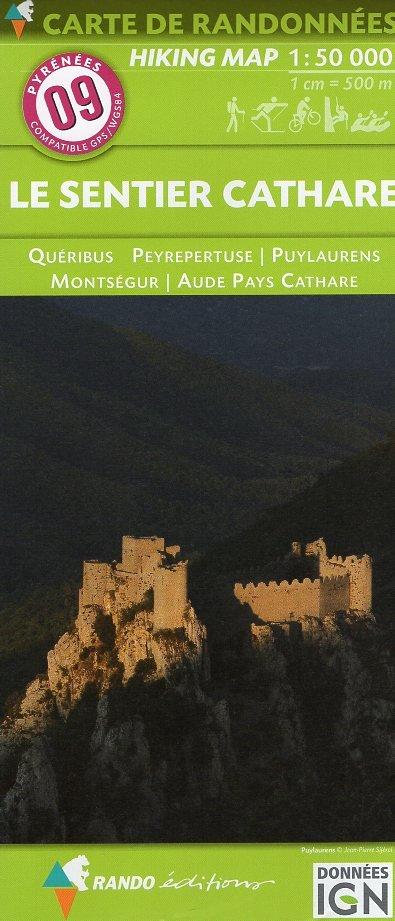 RP-09  Sentier Cathare 1:55.000 9782344013397  Rando Editions Randonnées Pyrénéennes  Wandelkaarten Franse Pyreneeën