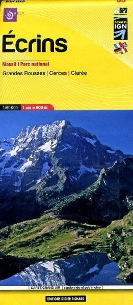 LB-05   Écrins, Parc National | wandelkaart 1:60.000 9782723476690  Libris Éditions Didier Richard  Wandelkaarten Lyon, Ain, Savoie, Mont Blanc, Vanoise, Chartreuse