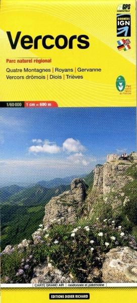 LB-10  Vercors | wandelkaart 1:60.000 9782723476737  Libris Éditions Didier Richard  Wandelkaarten Drôme, Vercors