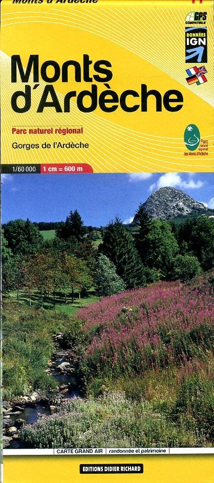 LB-11  Ardèche | wandelkaart 1:60.000 9782723476744  Libris Carte de Randonnée  Wandelkaarten Ardèche
