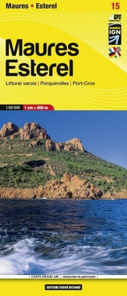 LB-15  Maures, Esterel  | wandelkaart 1:60.000 9782723491686  Libris Wandelkaarten Provence  Wandelkaarten Provence, Vaucluse, Luberon