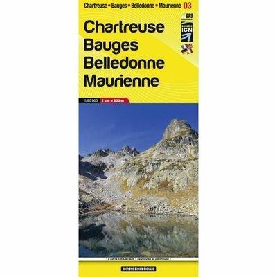 LB-03   Chartreuse, Bauges | wandelkaart 1:60.000 9782723495394  Libris Éditions Didier Richard  Wandelkaarten Lyon, Ain, Savoie, Mont Blanc, Vanoise, Chartreuse
