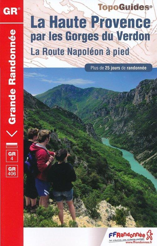 TG401  Provence, Gorges du Verdon (GR4) 9782751408519  FFRP Topoguides  Meerdaagse wandelroutes, Wandelgidsen tussen Valence, Briançon, Camargue en Nice