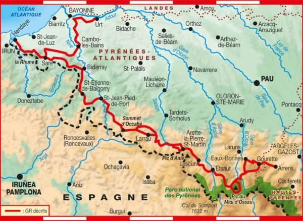 TG1086 Pyrénées Occidentales | wandelgids GR-10 9782751409844  FFRP Topoguides  Meerdaagse wandelroutes, Wandelgidsen Baskenland, Franse Pyreneeën, Toulouse, Gers, Garonne
