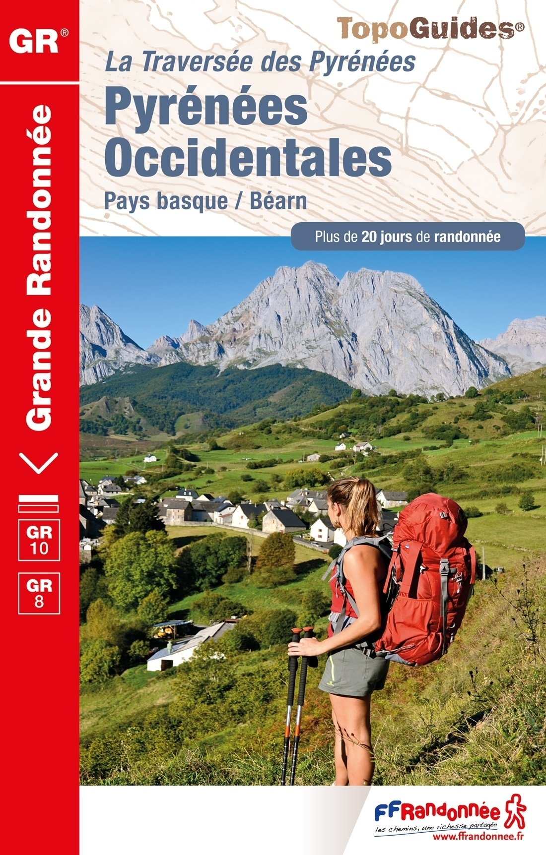 TG1086 Pyrénées Occidentales, GR-10 9782751409844  FFRP Topoguides  Meerdaagse wandelroutes, Wandelgidsen Baskenland, Franse Pyreneeën, Toulouse, Gers, Garonne