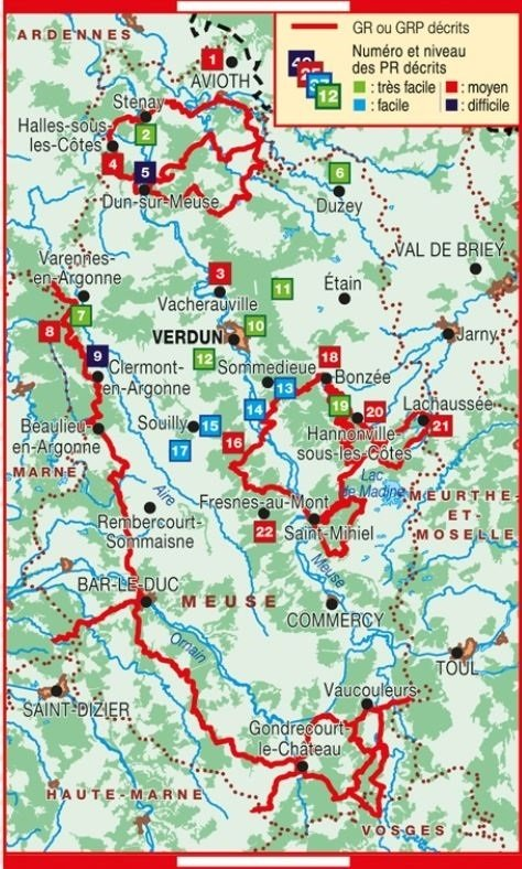 TG5500 Itinérances et randonnées à travers la Meuse   wandelgids 9782751410161  FFRP Topoguides  Meerdaagse wandelroutes, Wandelgidsen Champagne, Franse Ardennen