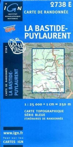 2738 Est: La Bastide, Puylaurent 9782758501367  IGN Serie Bleue 1:25.000  Wandelkaarten Cevennen, Languedoc